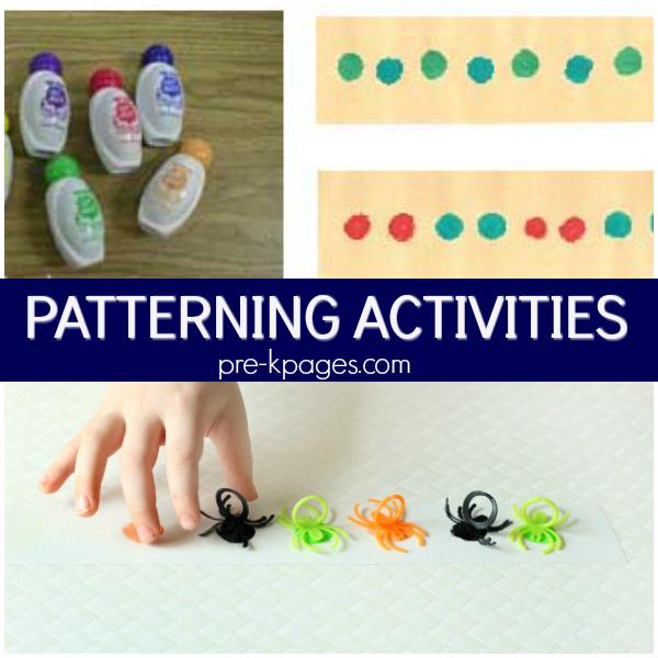 making patterns math pre-k