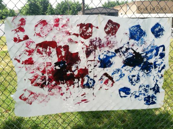 outdoor art painting pre-K