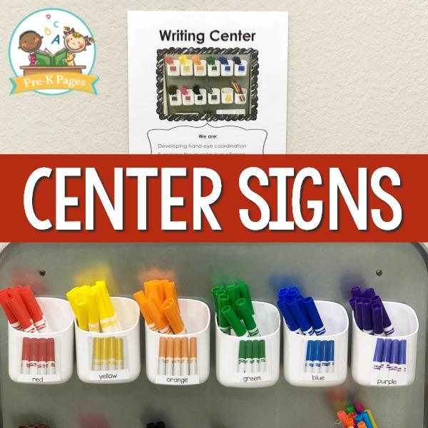 Editable Writing Center Sign