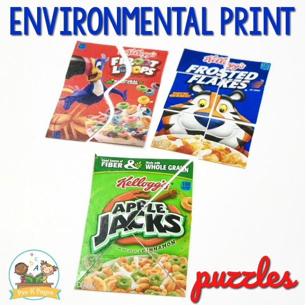 Environmental Print Cereal Box Puzzles