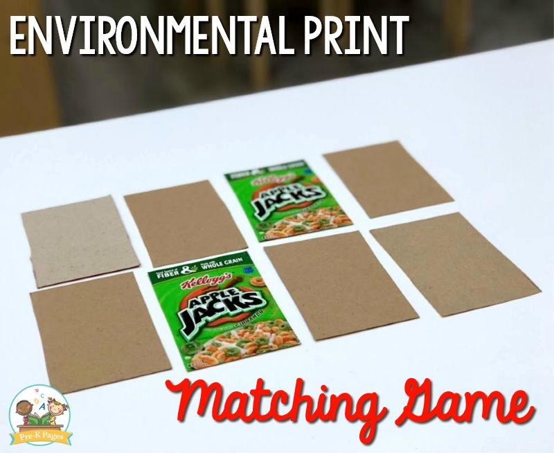 Environmental Print Matching Game