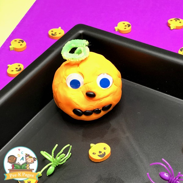 Halloween Play Dough Activity for Preschool