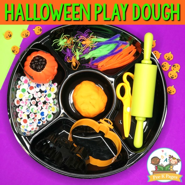 Halloween Play Dough Tray