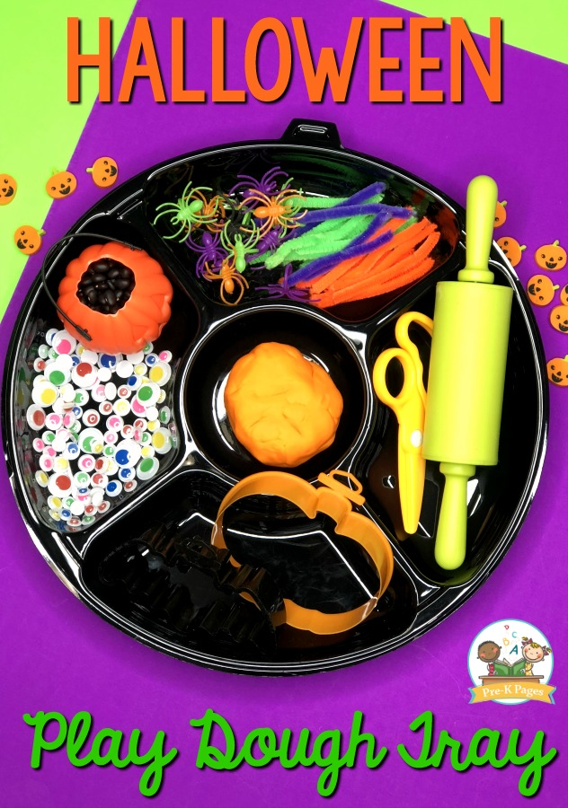 Halloween Playdough Activity for Preschool