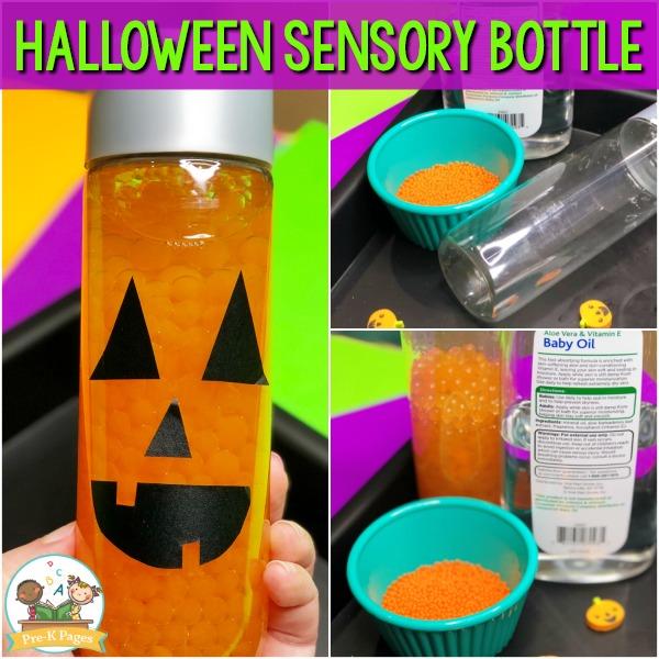 Jack O Lantern Sensory Bottle