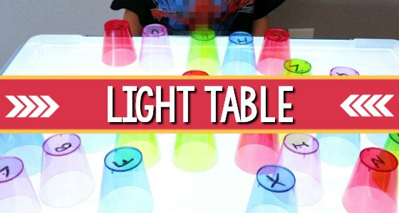 Light Table Center in Preschool
