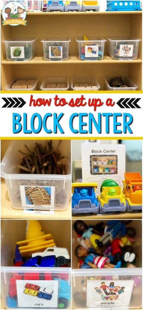 Preschool Block Center Set Up
