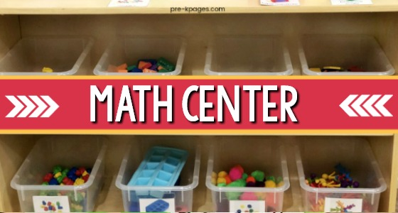Preschool Math Center