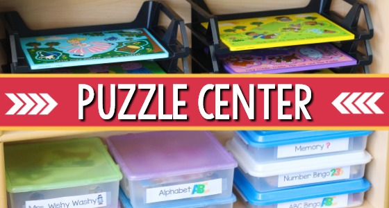 Puzzle Center in Preschool
