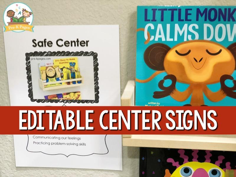 Safe Center Sign