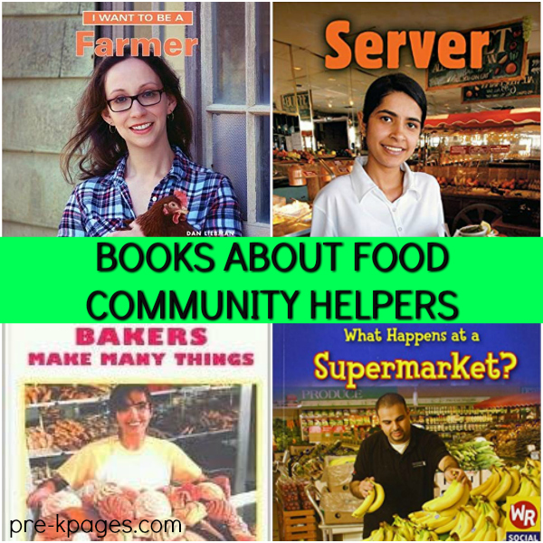 community helper books for pre-k about food