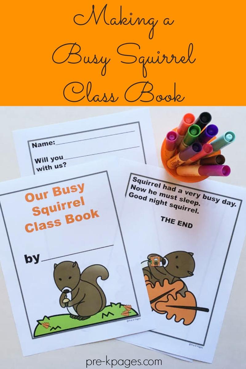 busy squirrel class book preschool