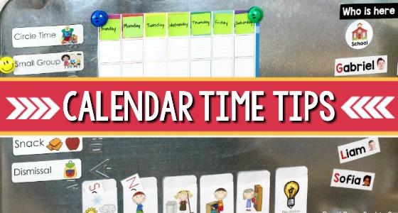 calendar time tips