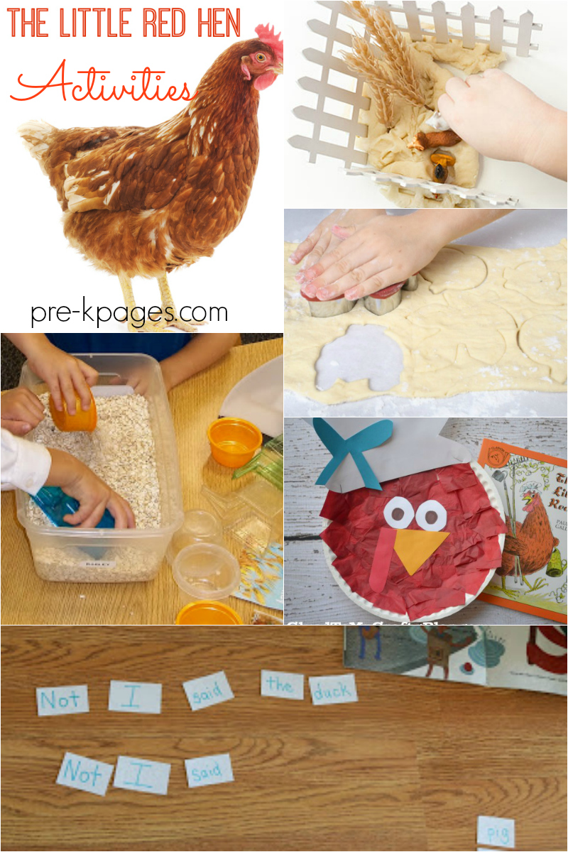 little red hen activities fall preschool