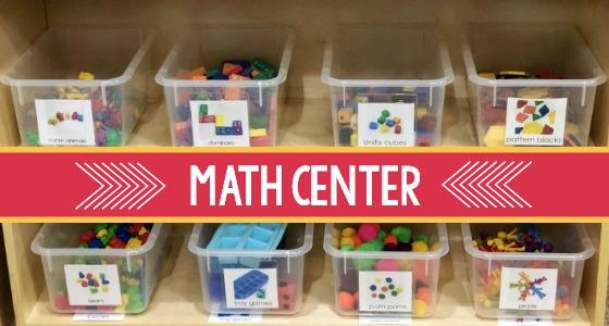 Math Center in Preschool