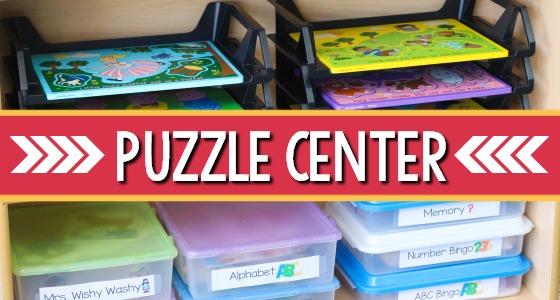 Puzzle Center in Preschool