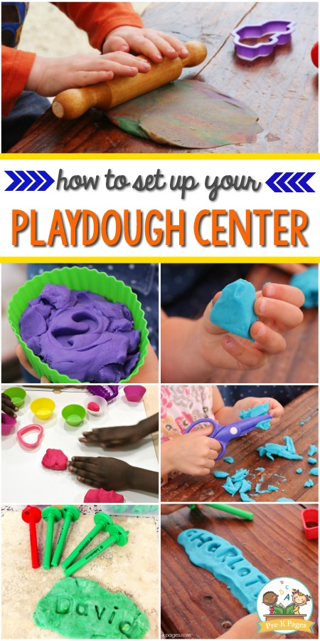 How to set up a playdough center