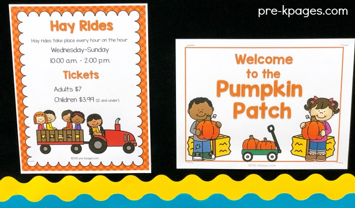 Printable Pumpkin Patch Hay Ride Sign