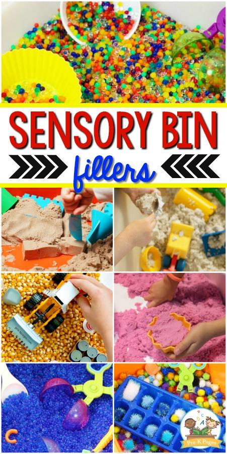 Sensory Bin Filler Ideas