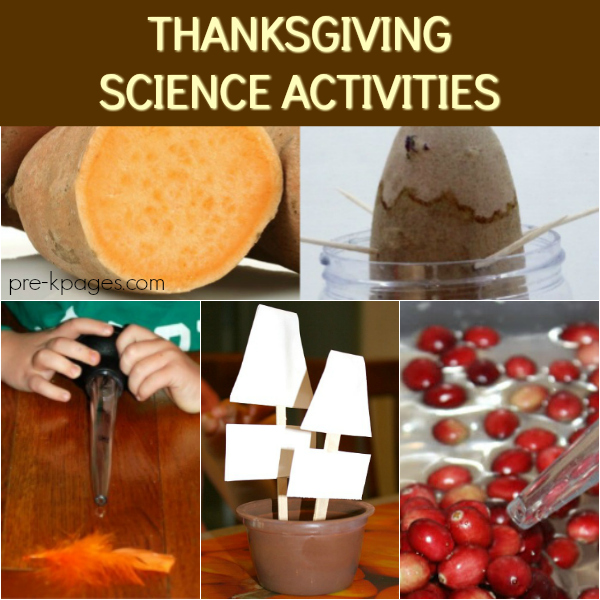 thanksgiving fall science pre-k