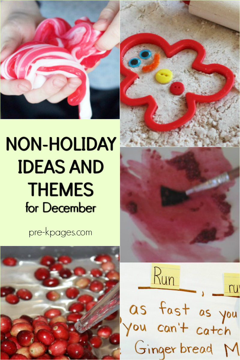 December themes ideas not holiday preschool