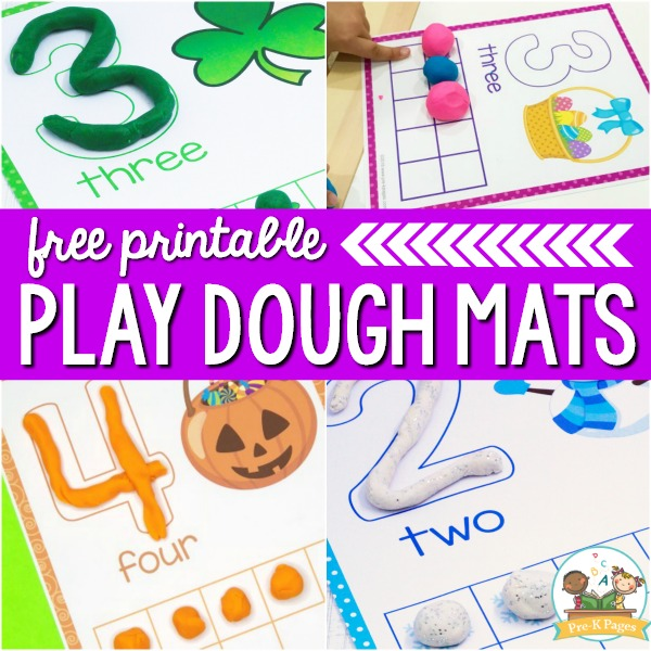 Free Printable Play Dough Mats for Preschool