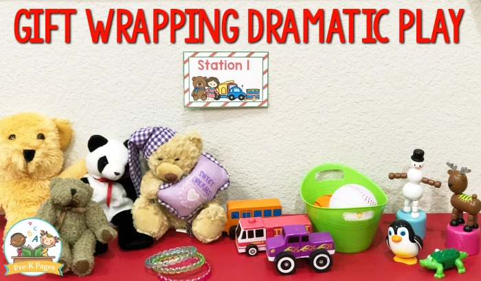 Gift Wrapping Holiday Dramatic Play Center