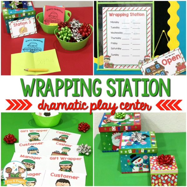Gift Wrapping Pretend Play Center