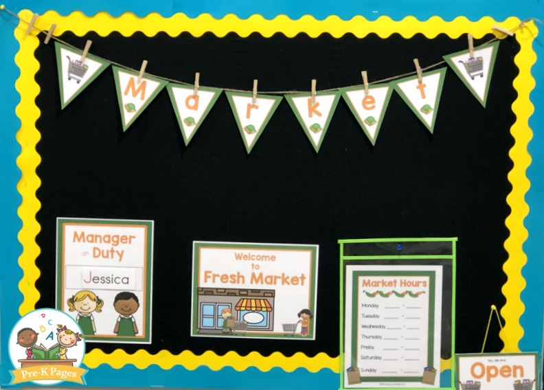 Grocery Store Printables for Dramatic Play Center