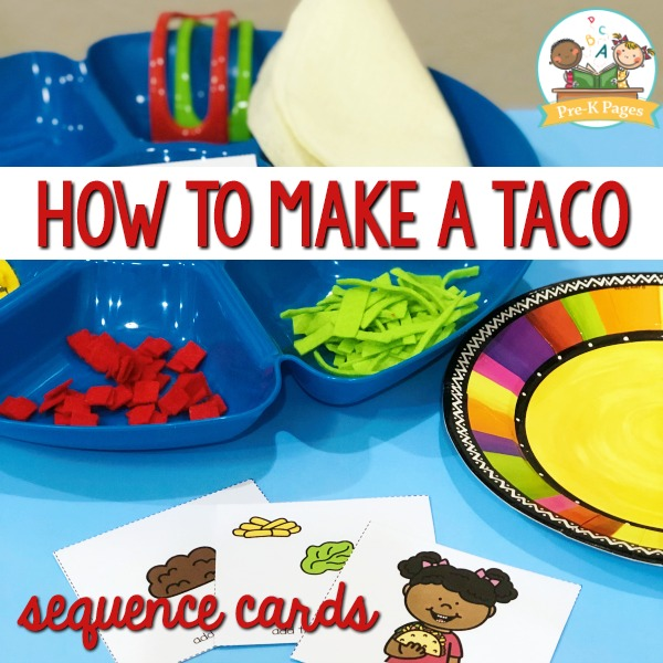 How to Make a Taco Picture Sequence Cards