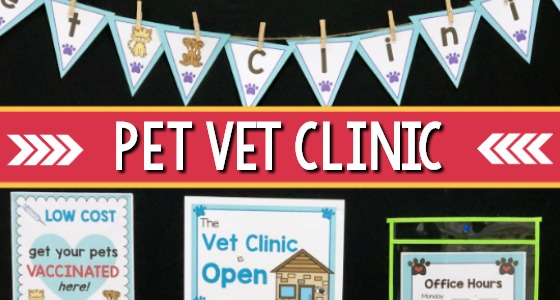 Vet Animal Hospital Dramatic Play