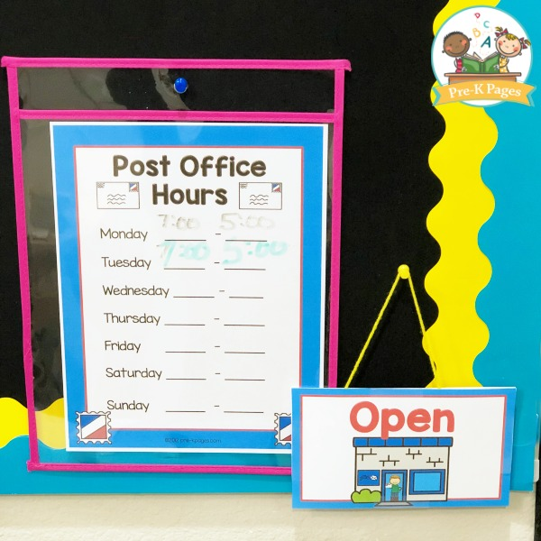 Post office dramatic play center - Signe different open office ...