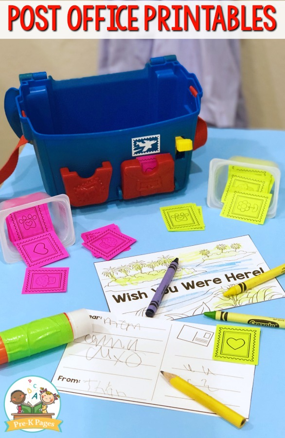 Post Office Printable Stamps for Pretend Play
