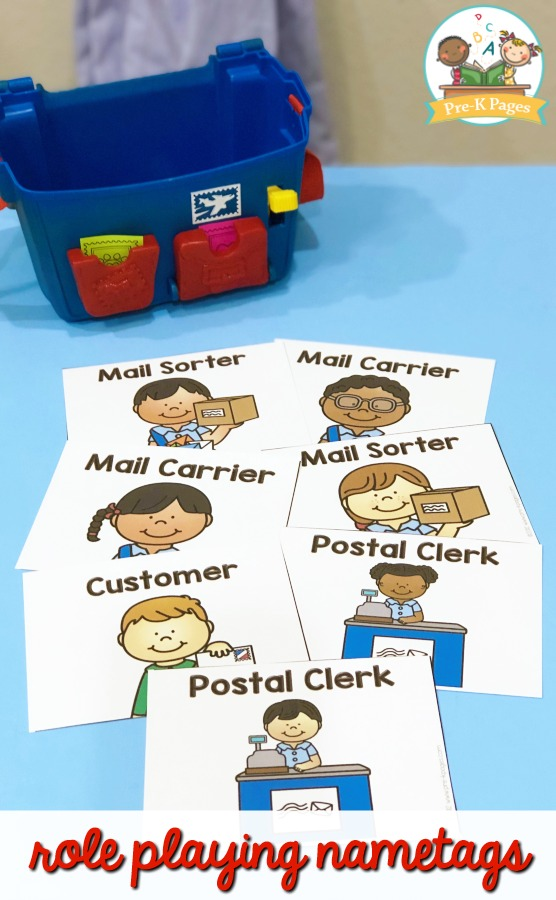 Post Office Role Playing Name Tags