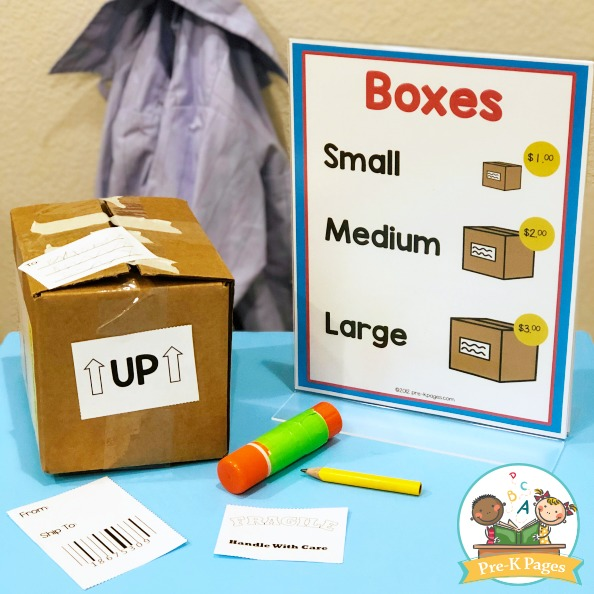 Post Office Theme Printables for Preschool