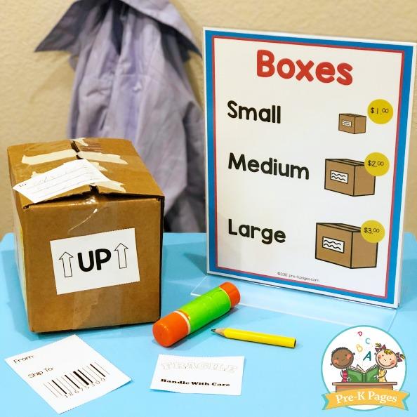 Post Office Theme Printables for Preschool