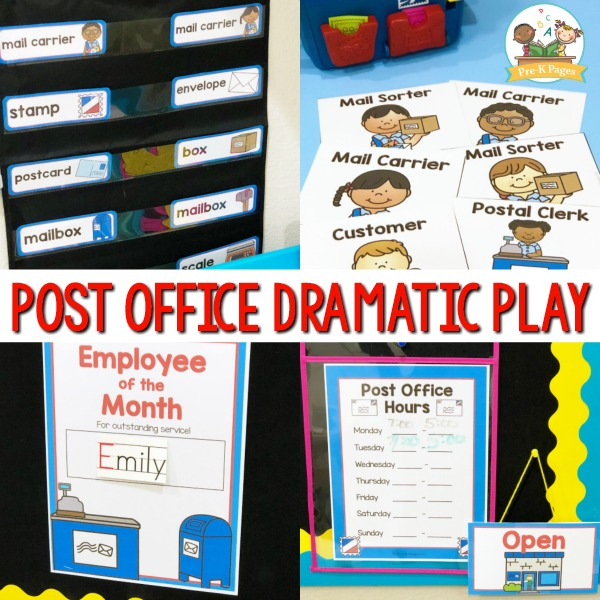 Post Office Theme for Preschoolers
