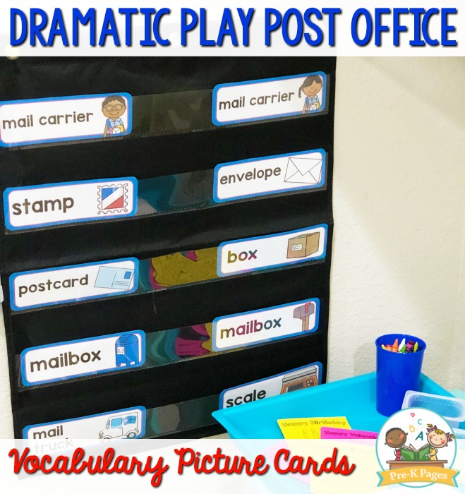 Post Office Vocabulary Picture Cards