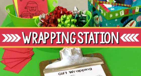 Dramatic Play Holiday Wrapping Center