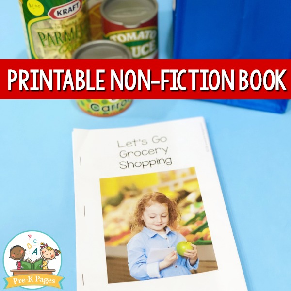 Printable Non Fiction Book about the Grocery Store