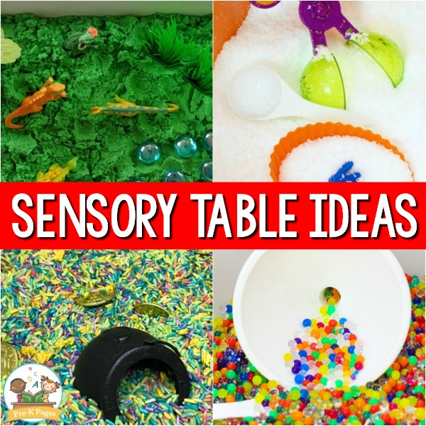 Sensory Table Ideas for Pre-K
