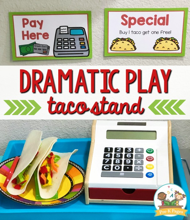 Taco Dramatic Play Kit for Preschool