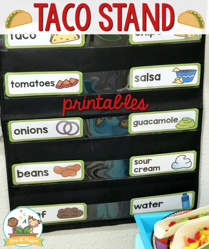 Taco Stand Picture Word Cards