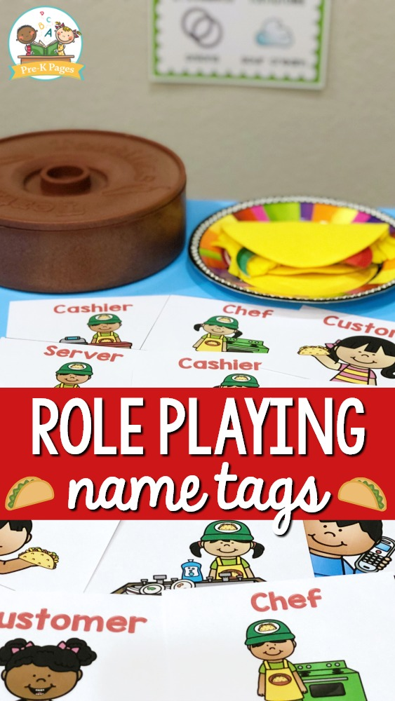 Taco Truck Dramatic Play Name Tags