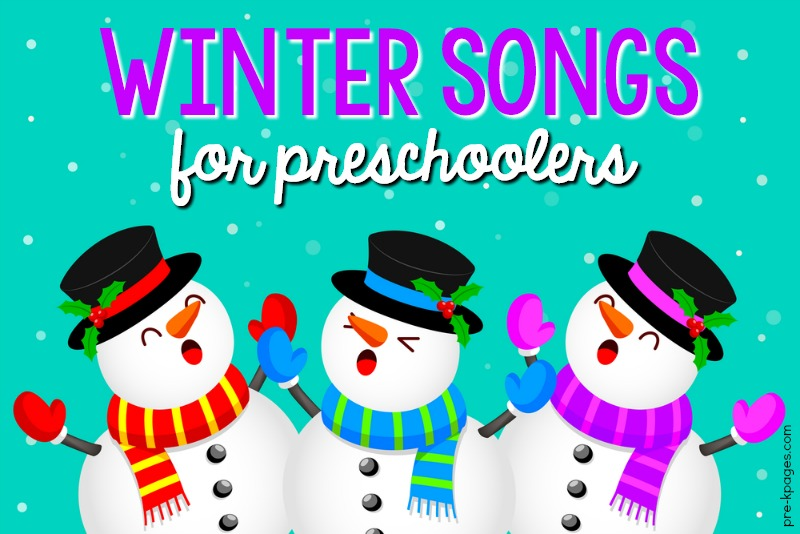 Winter Songs for Preschoolers pin image