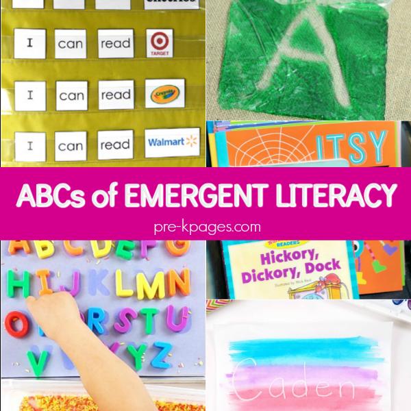 emergent literacy pre-k