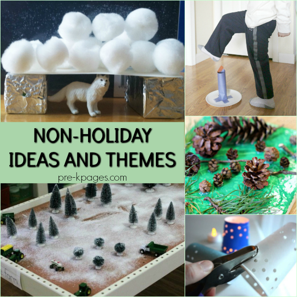 non-holiday themes ideas pre-k