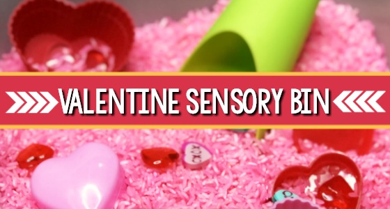 Colorful Valentine Sensory Bin