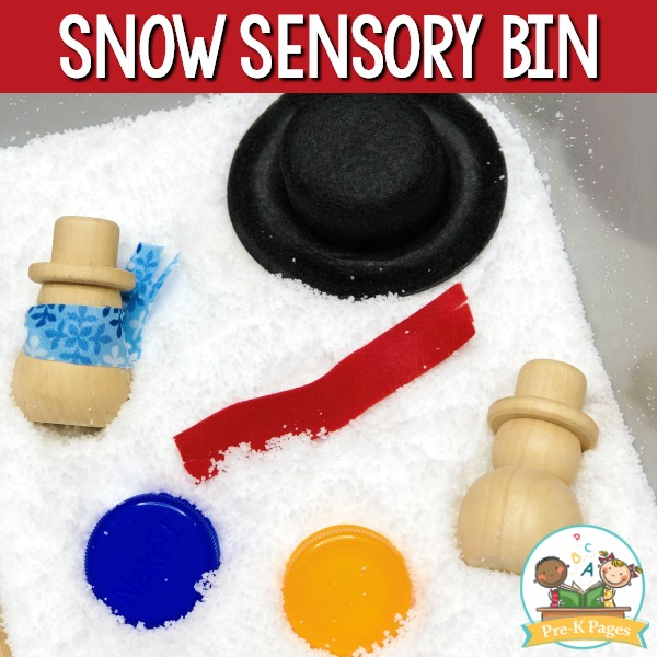 Fake Snow Sensory Bin
