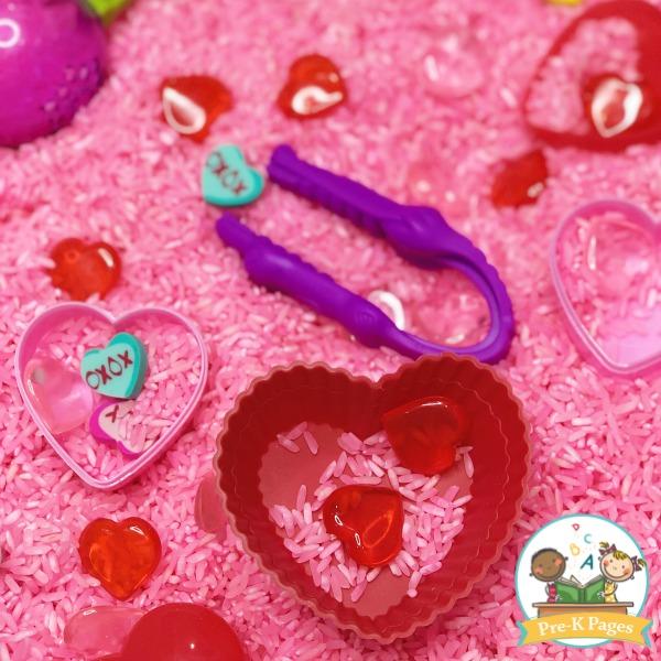 Fun Valentine Sensory Bin